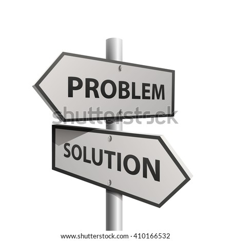 Column direction problem solution. Vector illustration - stock vector