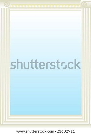 column pillar blank - stock vector