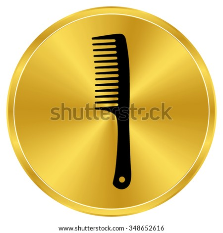 Comb - gold vector icon