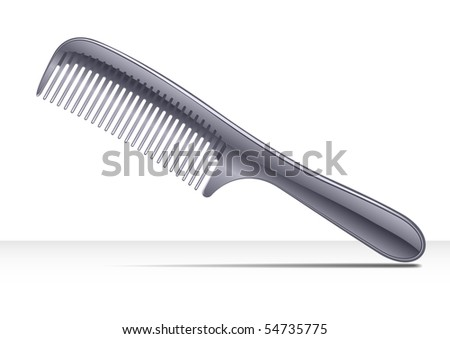 Comb hair - stock vector