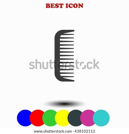 Comb icon. Comb illustration. Comb web. - stock vector