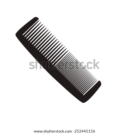 Comb Icon with shadow on a light background - stock vector