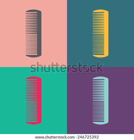 Comb vector icon. - stock vector