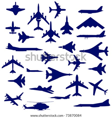 Combat aircraft. Team.  vector illustration for designers - stock vector