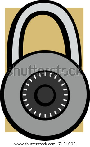 combination lock - stock vector