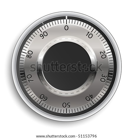 Combination Lock. Combination Safe Lock. Vector Illustration. - stock vector