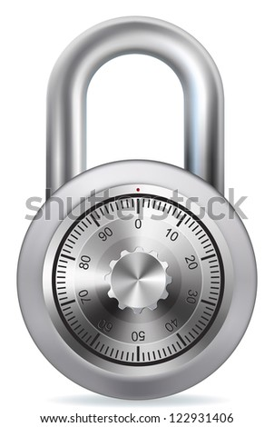 Combination Lock on white background. EPS-10 - stock vector