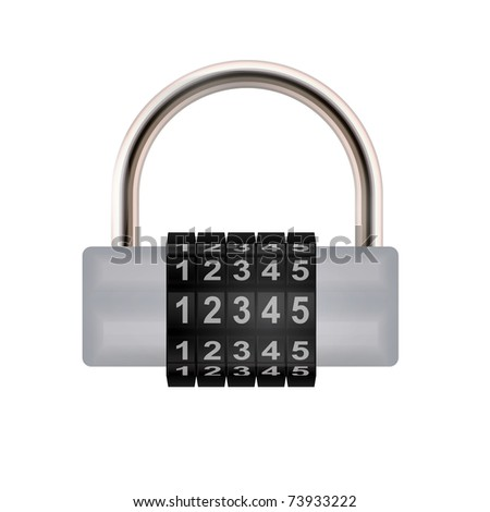 Combination lock. Vector illustration. - stock vector