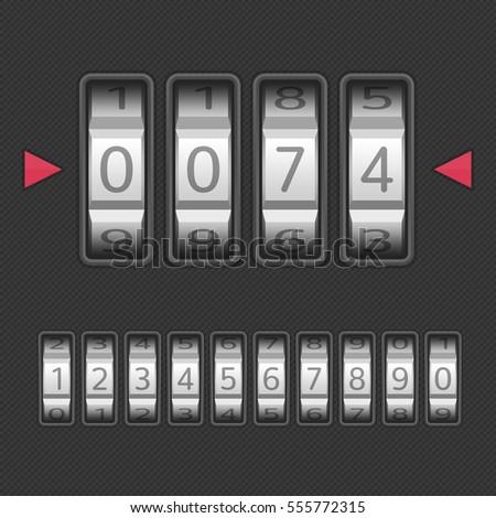 Combination Number Code Lock Vector Illustration Stock Vector 555772315 Shutterstock