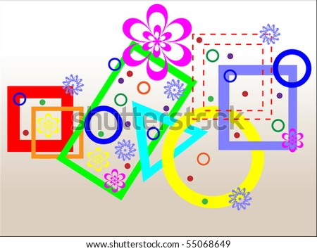 Combination of geometrical figures. Vector illustration.