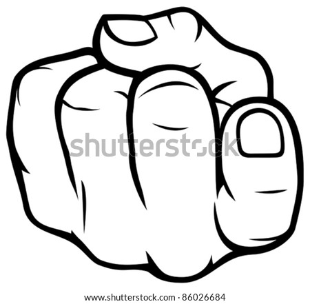 come here gesture finger (come over here) - stock vector