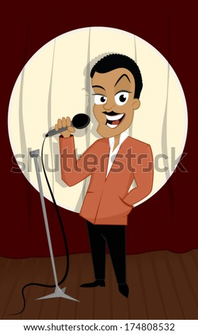 Comedian - stock vector
