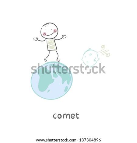 comet - stock vector