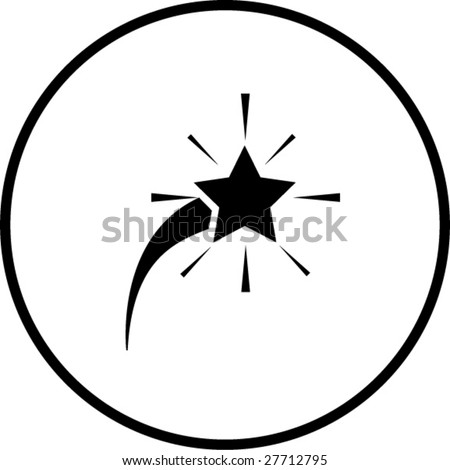 comet star symbol - stock vector