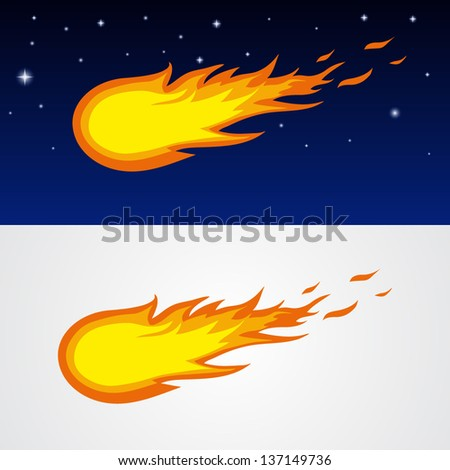Comets caricature - stock vector