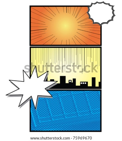 comic background - stock vector