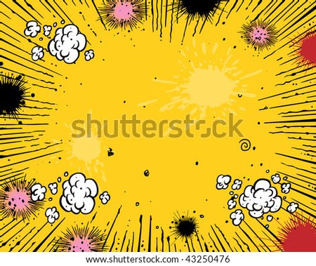 Comic book background - stock vector