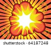 Comic book background. Boom! - stock vector