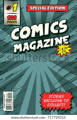 Comic Book Cover Model Vector Art Stock Vector (Royalty Free ...