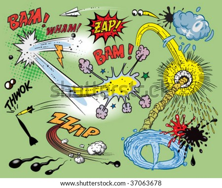 Comic book explosion - stock vector