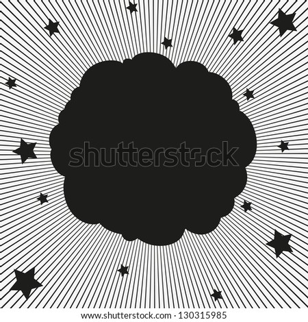 Comic book explosion background, vector illustration