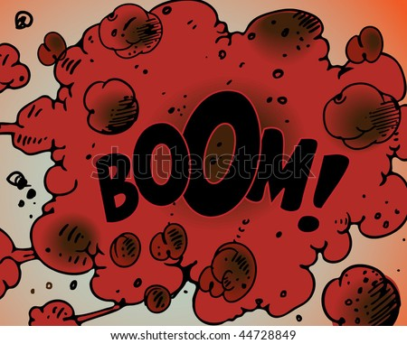 Comic book explosion - BOOM! - stock vector