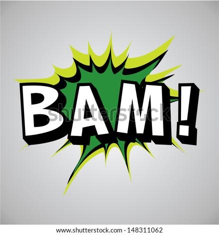 Comic book explosion bubble, vector illustration, bam - stock vector