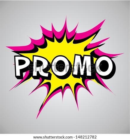 Comic book explosion bubble, vector illustration, promo - stock vector
