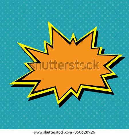 Comic book explosion set - stock vector