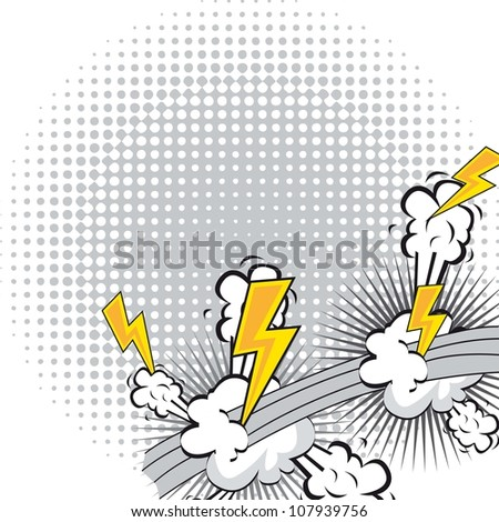 comic book explosion with spacer for copy. vector illustration - stock vector