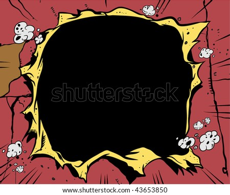 Comic book - Hole - stock vector