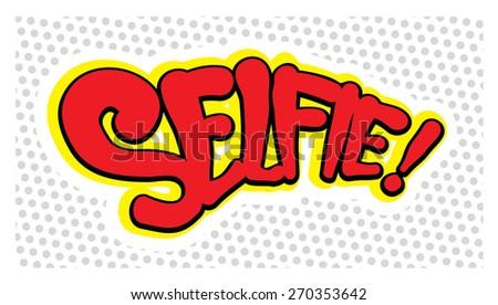 comic book style selfie - stock vector