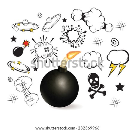 Comic boom speech bubble. Vector illustration - stock vector