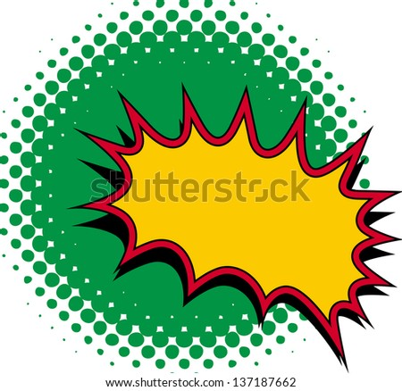 Comic Burst Vector - stock vector