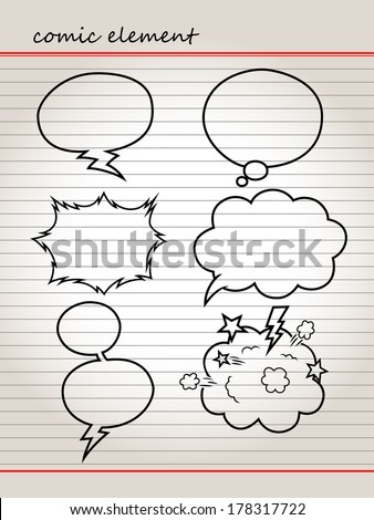 COMIC COLLECTIONS - stock vector