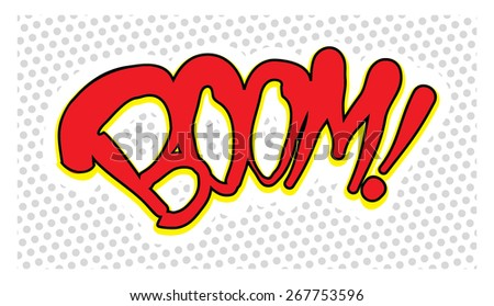 comic explosion boom - stock vector