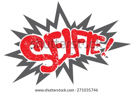 comic explosion selfie - stock vector