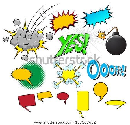 Comic Explosion Vector Illustration - stock vector