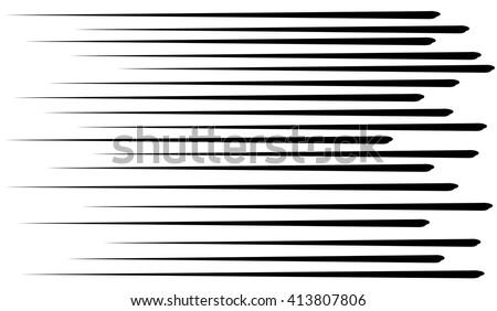 Comic lines.Speed lines black.Vector. - stock vector