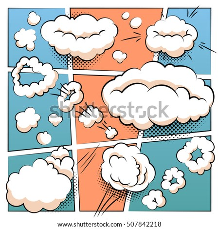 Comic page template comics speech balloons stock vector 507842218 comic page template with comics speech balloons and mind bubbles vector collection maxwellsz