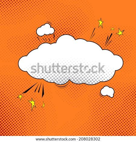 Comic pop-art speech bubble illustration. Vector illustration - stock vector