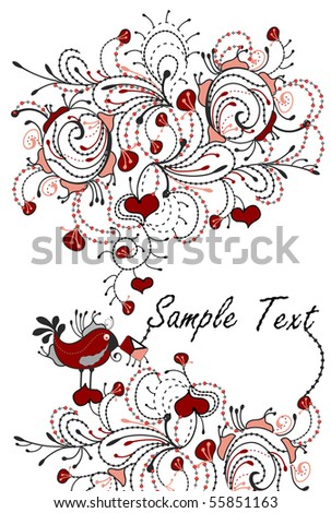 comic romantic background of the various elements - stock vector