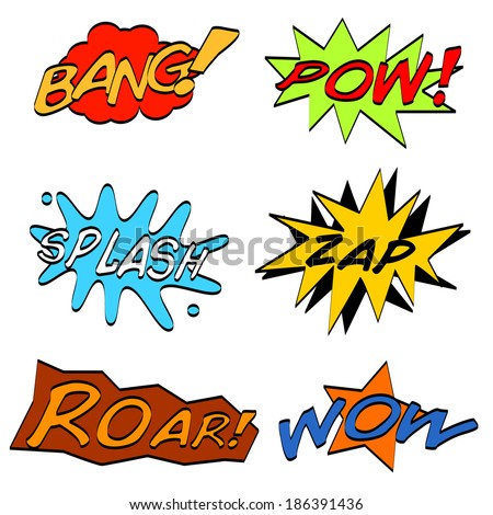 Comic Sounds - stock vector