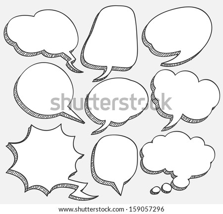 comic speech bubble - stock vector