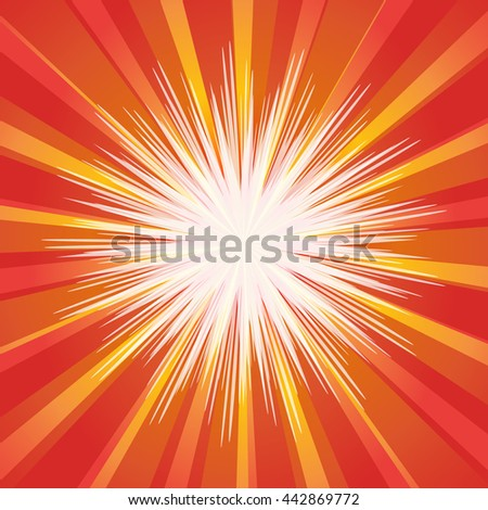 Comic speech bubble on burst background, EPS10 Vector Illustration