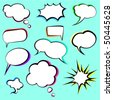comic speech bubbles - stock vector