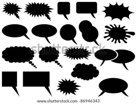 comic speech bubbles - stock vector