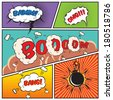 Comic speech bubbles and comic strip background vector illustration - stock