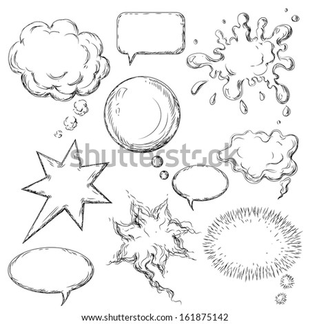 Comic speech bubbles collection. - stock vector
