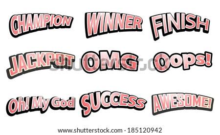 Comic Speech text hits set. Vector illustration - stock vector